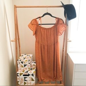 Xhilaration Mustard Yellow Polka Dot Sun Dress XL